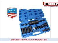 Tm Us Pro 14pc Injector Puller -Common Rail Adaptor Slide Hammer Tm177