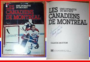 Montreal Canadiens Une Dynasty du Hockey Book Signed Lafleur
