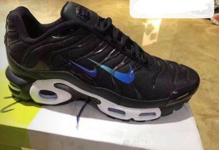promo code 5b317 48e73 Nike Airmax plus tn 2019 double swoosh over branding Black and blue size 7  8 9 brand new bargain | in Romford, London | Gumtree