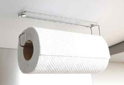 Kitchen Roll Holder Paper Towel Dispenser Wall Mounted Under Unit Cabinet New