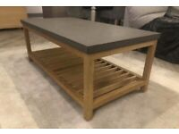 Coffee Table - Oak and Concrete Resin
