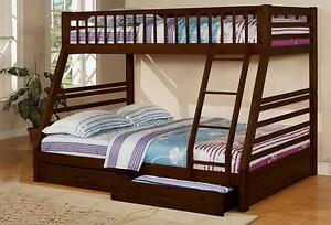 MEUBEL.CA   $499 - SINGLE DOUBLE BUNK BED -- FREE DELIVERY