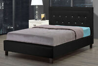 $349  -  New Queen Black Platform Bed