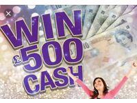 £500 online raffle