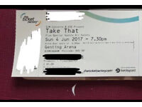 Take that tickets £80 the pair