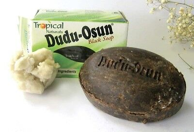 1-BAR DUDU OSUN Raw African Black Soap Organic Unrefined Premium Quality - Dudu Osun Soap