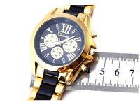 Alps watch roman numerical gold plated men's wrist watch