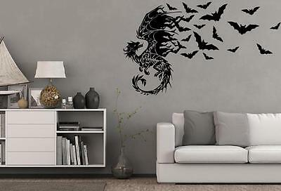 Drache, Fledermaus, Halloween, Wandtattoo, Wallsticker, Fantasy, Gothic (Halloween Wandtattoos)