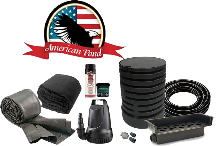 American Pond Freedom Series Complete Small Pondless Waterfall Kit Water Feature