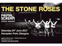 2 Stone Roses tickets, Glasgow - Excellent Seats!