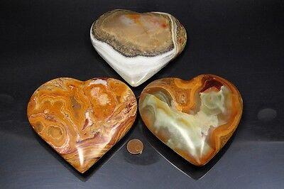 Edelstein Herz aus Onyx-Marmor Größe XL