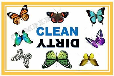 Butterfly  Dishwasher Magnet Clean Dirty portable   XL SIZE BEST