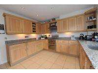 Large Kitchen, Shaker Real Wood fronts, Quartz Worktops and Splash backs, plus appliances