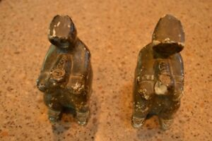 Two Old Native Soapstone Carvings