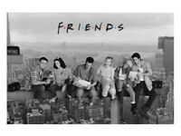 """Friends """"Lunch On A Skyscraper"""" Maxi Poster NEW SEALED jennifer aniston, lisa kudrow, matthew perry"""