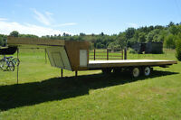 Tandem Axle Fifth Wheel Flatbed Trailer