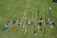Large Lot of Fishing Rods