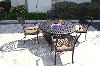 Outdoor propane fire pit 5 piece set 52