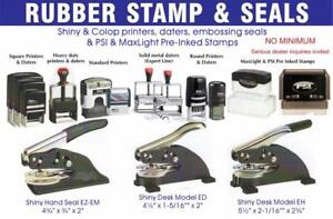 RUBBER STAMPS & SEALS - NAME BADGES & PLATES - LASER CUTTING,  ENGRAVING & METAL  PRINTING