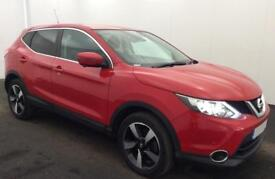 NISSAN QASHQAI RED HATCHBACK 1.5 1.7 DCI ACENTA FROM £57 PER WEEK!