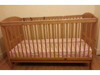 Prague Cot Bed with Mamas and Papas Deluxe Foam Mattress