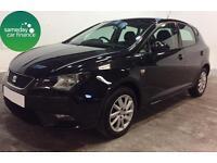 £133.85 PER MONTH BLACK 2012 SEAT IBIZA 1.2 TSI DSG SE 5 DOOR PETROL AUTOMATIC