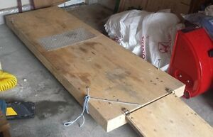 Motorcycle or snowmobile rolling storage platform and ramp