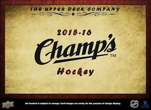 2015-16 Upper Deck Champs Hockey Cards Hobby Box Kitchener / Waterloo Kitchener Area image 2