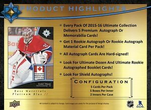 2015-16 Upper Deck Ultimate Hockey Trading Cards Hobby Box Kitchener / Waterloo Kitchener Area image 2