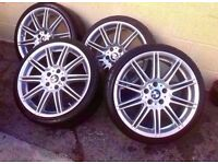 Bmw Mv4 Genuine Staggered Fron 8j Rear 9J 19'' Alloys 5*120 Can Sell Singl part Ex welcome CAN POS