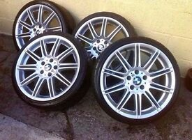 "Bmw Mv4 19"" Alloy Wheels Genuine CAN SELL INDIVIDUAL CAN POST CAN PART EXCHANGE"
