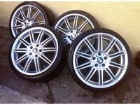 """Bmw Mv4 19"""" Alloy Wheels Genuine CAN SELL INDIVIDUAL CAN POST CAN PART EXCHANGE"""