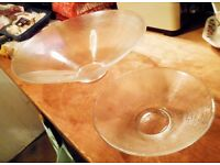 Glass Serving Bowl and small bowls