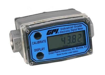 Gpi Turbine 12 Flowmeter Aluminum 1 To 10 Gpm G2a05n09gma