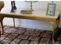 Vintage 60's Marble Top Coffee/Occasional Table