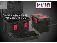 SEALEY AP529 LARGE MOBILE TOOLBOX TOTE TRAY & ORGANIZERS 750MM TOOL SITE BOX STANLEY