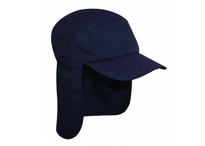 581fd793b22 Navy Legionnaire Sun Neck Cover Snapback Cap Sports Hat 100% Cotton UVPF 50+