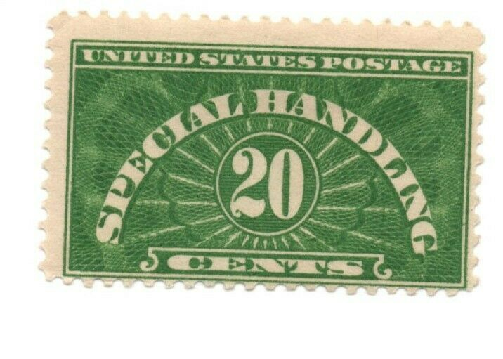 US Stamps Special Handling 20 cent scott QE3 MH
