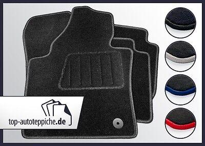 Mercedes W208 CLK 100% passform Fussmatten Autoteppiche Schwarz Silber Rot Blau