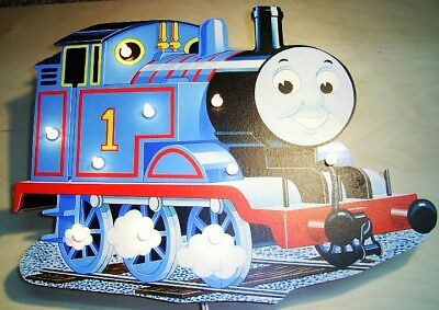 Thomas Beleuchtung Wand (Wandlampe Thomas die Lokomotive - Motiv 3 - Kinderlampe aus Holz)