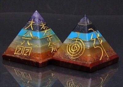 7 Chakra Chakren Edelstein Reiki  Pyramide XL Energie