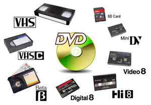 **Video and Audio Transfers** - VHS/VHS-C/8mm/Hi8/MiniDV to DVD! Kitchener / Waterloo Kitchener Area image 1