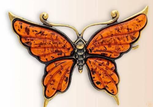 """Butterfly Peacock Eye"" Collectible Brooch BronZamania B1-1409"