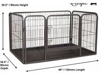 Heavy Duty Puppy Pen With ABS Plastic Tray (Extra-Large)