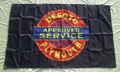 Desoto Plymouth FLAG 3' X 5' BANNER Racing  # 321