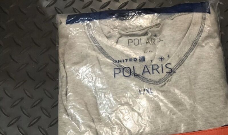 NEXT DAY DELIVERY UNITED AIRLINES polaris Bundle pajama XL,