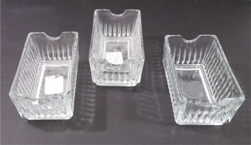 Williams Sonoma Libbey Clear Glass Winchester Sugar Packet Holder ~ Set 3 New