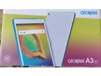 New boxed alcatel a3 10 inch 4G android tablet