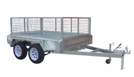 8X5 Tandem Axle Trailer Fully Galvanised with 600mm Cage