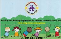 Full-day Daycare    Half-day Preschool     After-School care